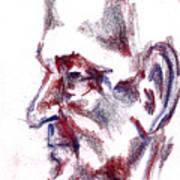 Old Man Profile  Art Print