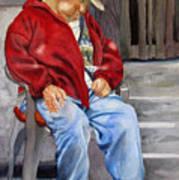 Old Man Resting Art Print