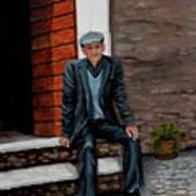 Old Man Waiting Art Print