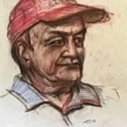 Old Man With Cap Art Print