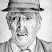 Old Man With Hat Art Print