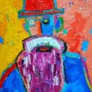 Old Man With Red Bowler Hat Art Print