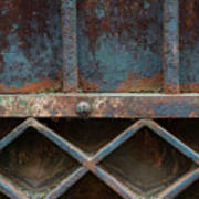 Old Metal Gate Detail Art Print