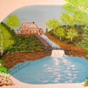 Old Mill And Falls Art Print