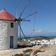 Old Mill In Greece Art Print