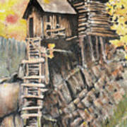 Old Mill In The Rockies Art Print