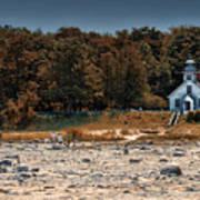 Old Mission Point Light House 01 Art Print