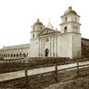 Old Mission Santa Barbara, Cal Circa 1895 Art Print