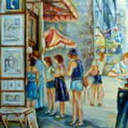 Old Montreal Street Scene Art Print
