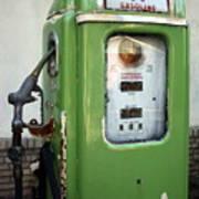 Old National Gas Pump Art Print