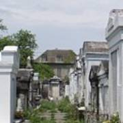 Old New Orleans Cemetery - The Big House  Art Print