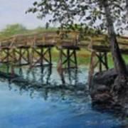 Old North Bridge In Pastel Art Print