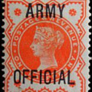 Old Orange Halfpenny Stamp  Art Print