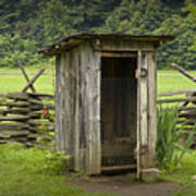Old Outhouse On A Farm In The Smokey Mountains Art Print by Randall Nyhof