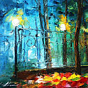 Old Park 2 - Palette Knife Oil Painting On Canvas By Leonid Afremov Art Print