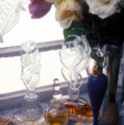 Old Perfume Bottles Art Print by Garry Gay