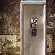 Old Phonebooth Print by Carlos Caetano