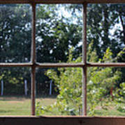 Old Pitted Glass Window Art Print