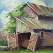 Old Pole Barn Art Print