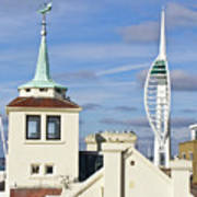 Old Portsmouth's Towers Art Print