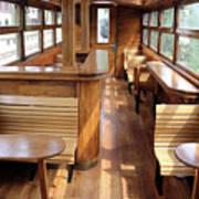 Old Railway Wagon Interior Vintage Art Print