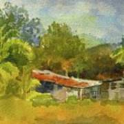 Old Ranch In Costa Rica Art Print