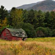 Old Red Barn In The Adirondacks Art Print by Nancy De Flon