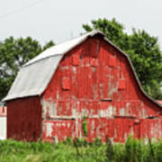 Old Red Barn Johnson County Ia Art Print