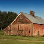 Old Red Barn Palouse Wa Dsc05067 Art Print