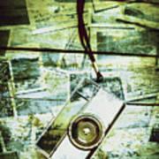 Old Retro Film Camera In Creative Composition Art Print