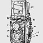 Old Rollie Vintage Camera T-shirt Art Print