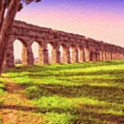 Old Roman Aqueduct Art Print