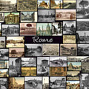 Old Rome Collage Art Print