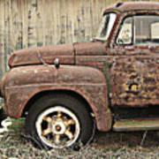 Old Rust Truck Art Print