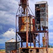 Old Rusted Grain Silo - Utah Art Print