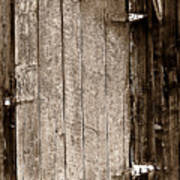 Old Rustic Black And White Barn Woord Door Art Print