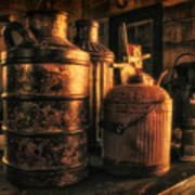 Old Rustic Cans Art Print