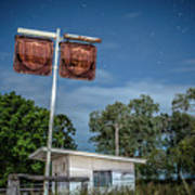 Old Rustic Fuel Station Sign In The Countryside Art Print