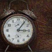 Old Rustick Clock Art Print