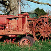 Old Rusty Tractors Art Print
