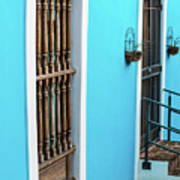 Old San Juan House In Historic Street In Puerto Rico Art Print