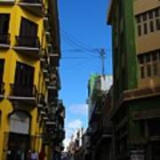 Old San Juan Puerto Rico Downtown On The Corner Art Print