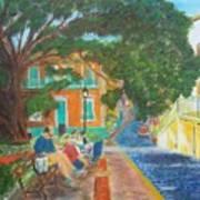 Old San Juan Street Scene Art Print