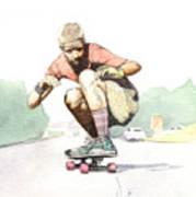 Old School Skater Art Print