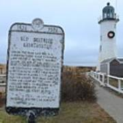 Old Scituate Lighthouse Art Print