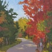 Old Scoolhouse Road Fall - Art By Bill Tomsa Art Print