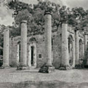 Old Sheldon Church Ruins, South Carolina Art Print