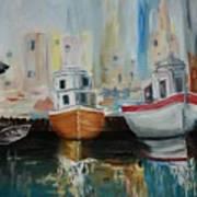 Old Ships At Dock Art Print