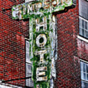 Old Simpson Hotel Sign Art Print