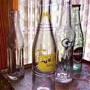 Old Soda Bottles Art Print